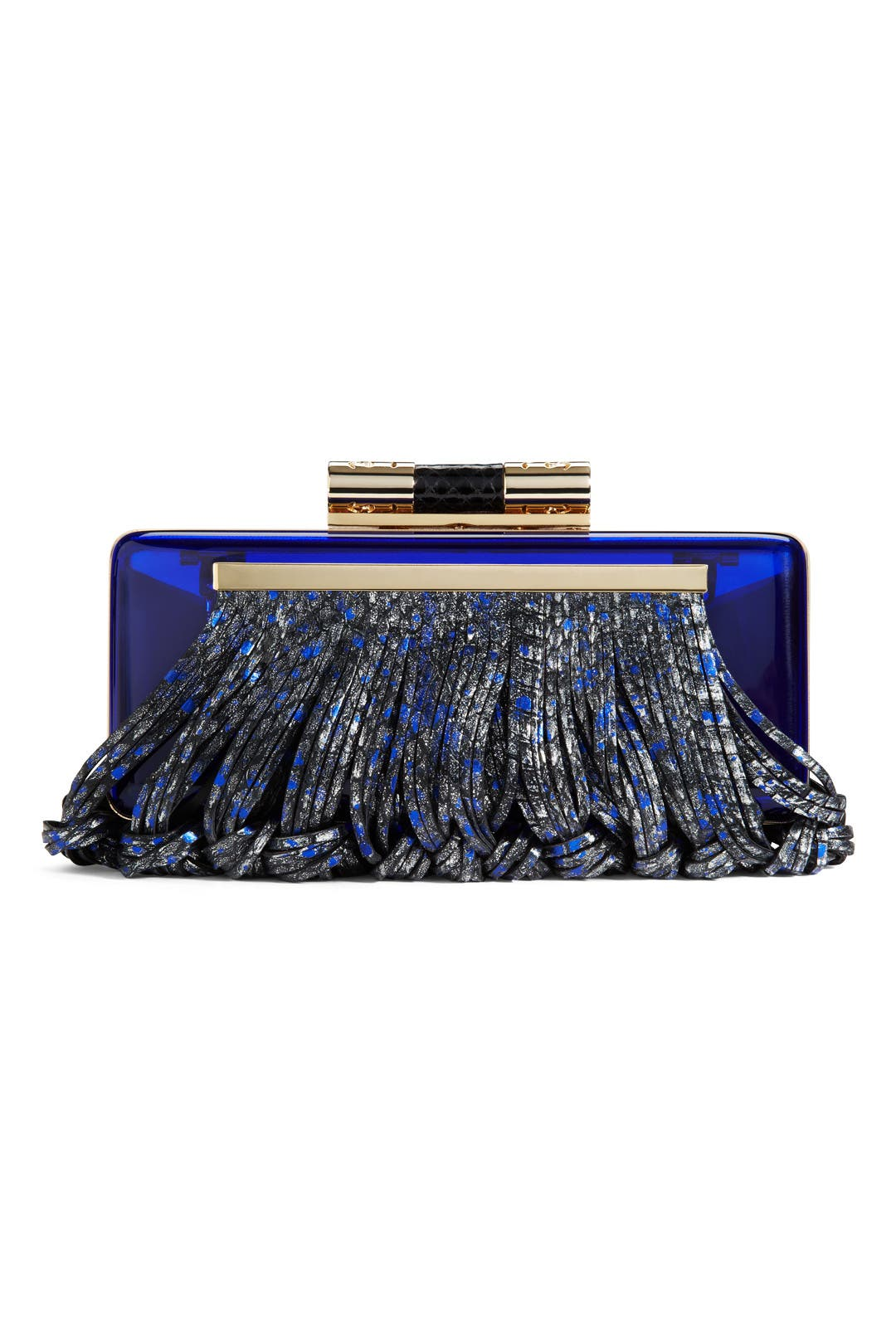 Blue Donna Plexi Clutch by Katherine Kwei