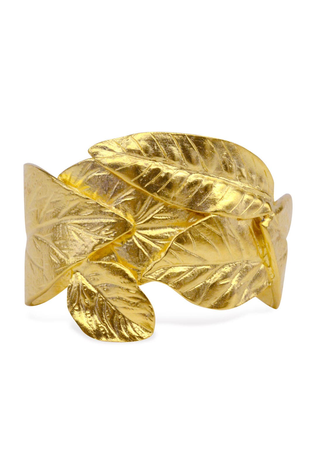 Gold Leaf Cuff by Kenneth Jay Lane