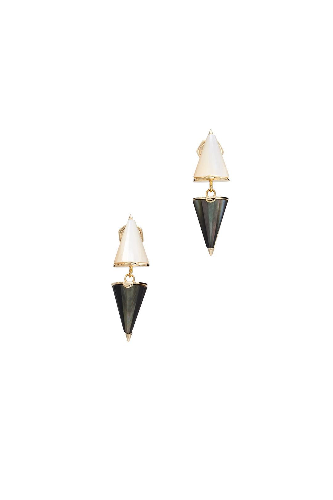 Black And White Double Dagger Earrings By Sarah Magid For $25  Rent The  Runway