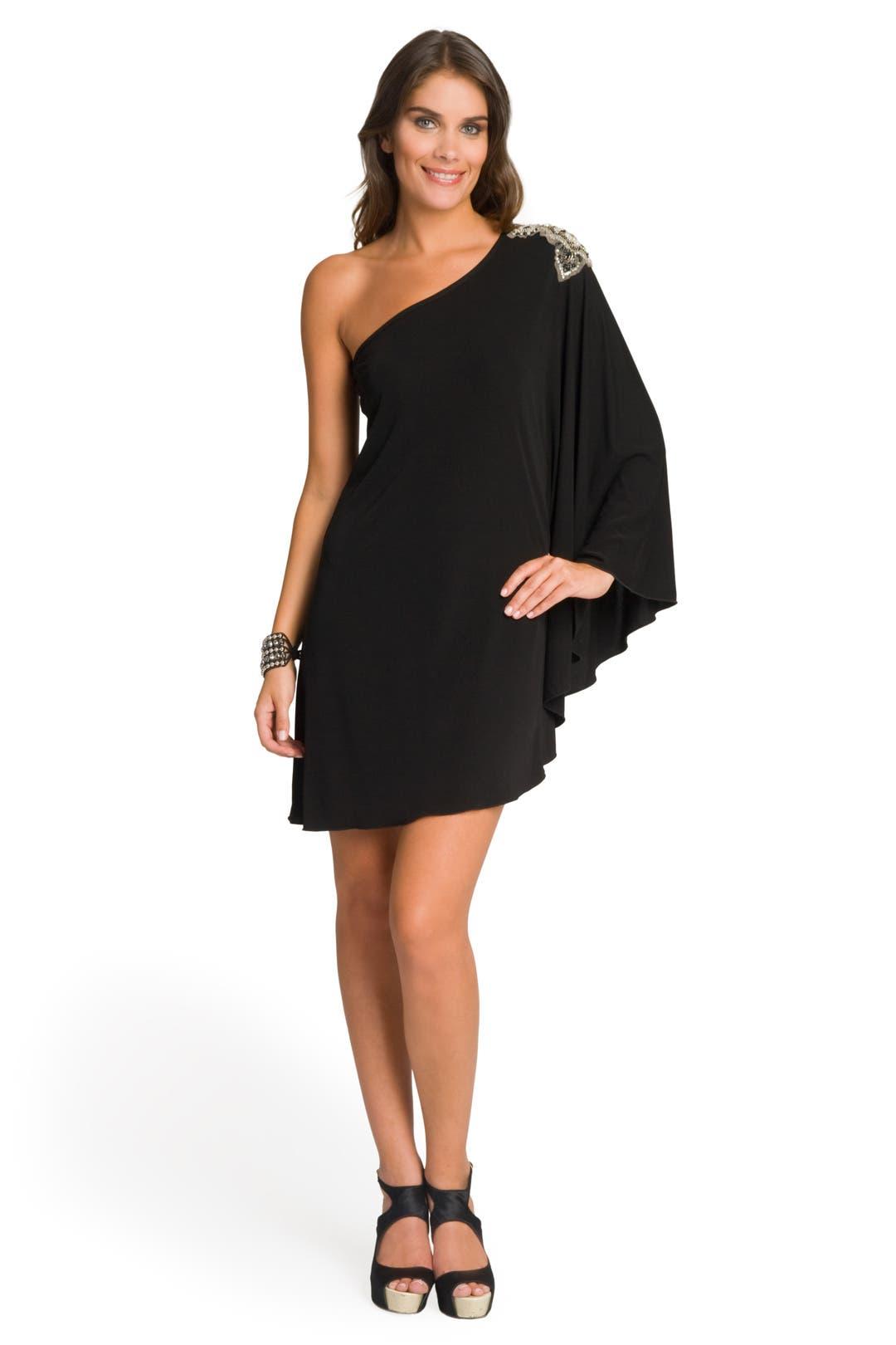 Winged Embellished Shoulder  Dress by Haute Hippie