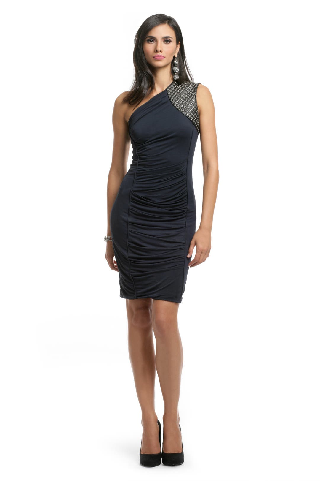 Quilted Shoulder Chain Dress by Yigal Azrouël