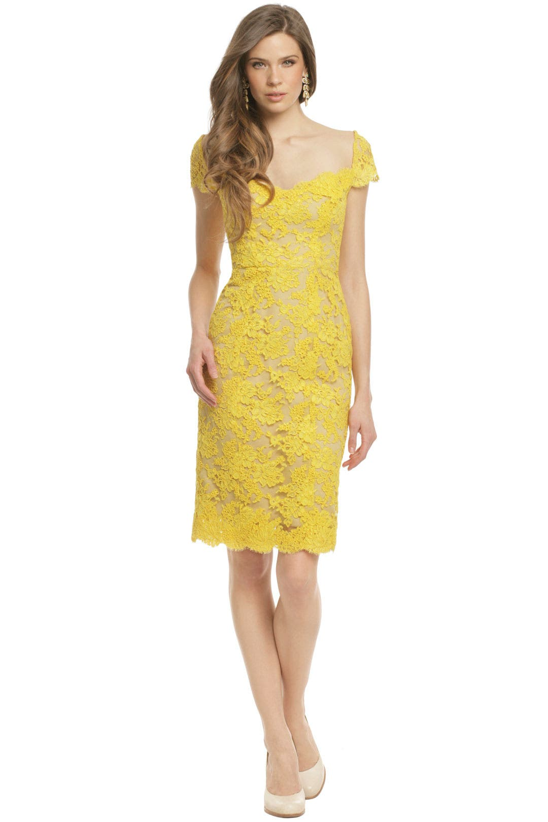 Canary Bennet Dress by Reem Acra for $698 | Rent the Runway