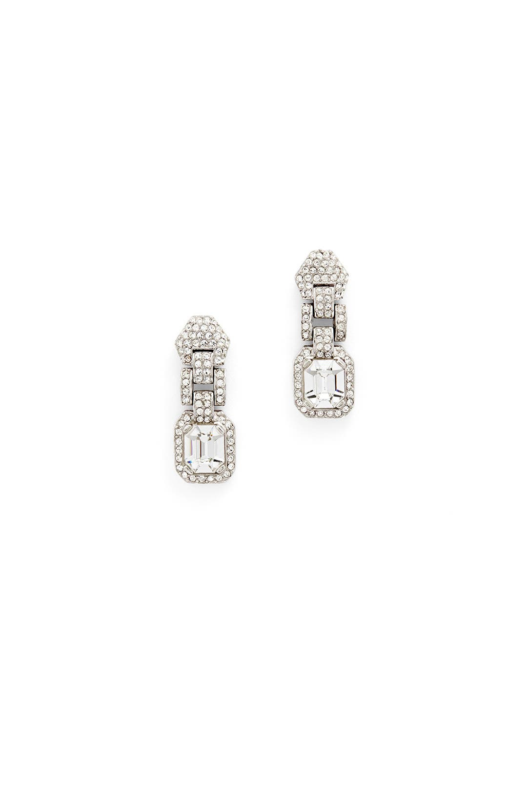 Crystal Link Drop Earrings by Ciner