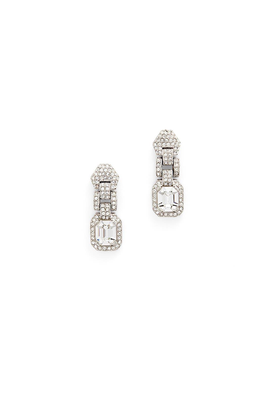Crystal Link Drop Earrings by Ciner
