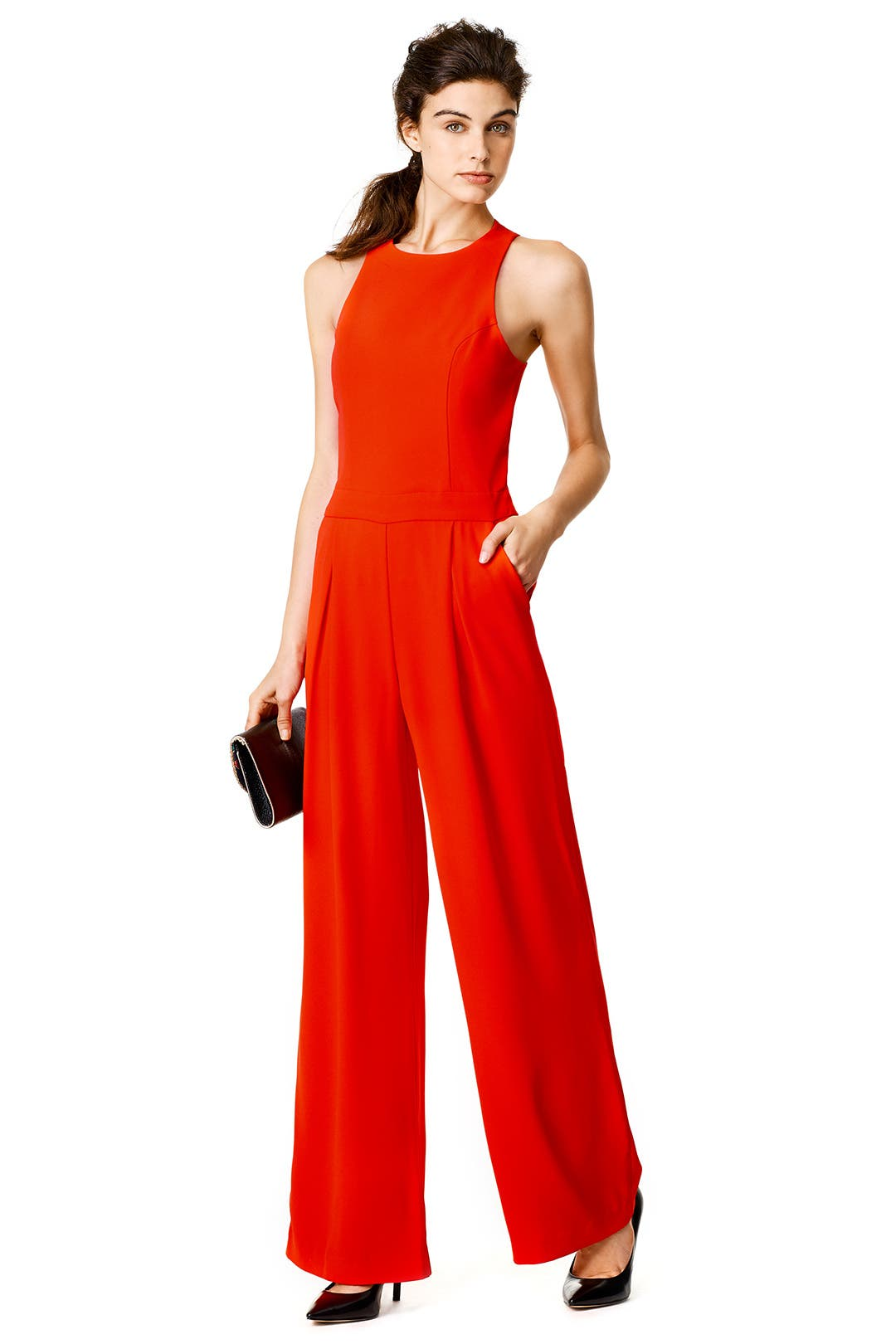 Formal Red Jumpsuit Breeze Clothing