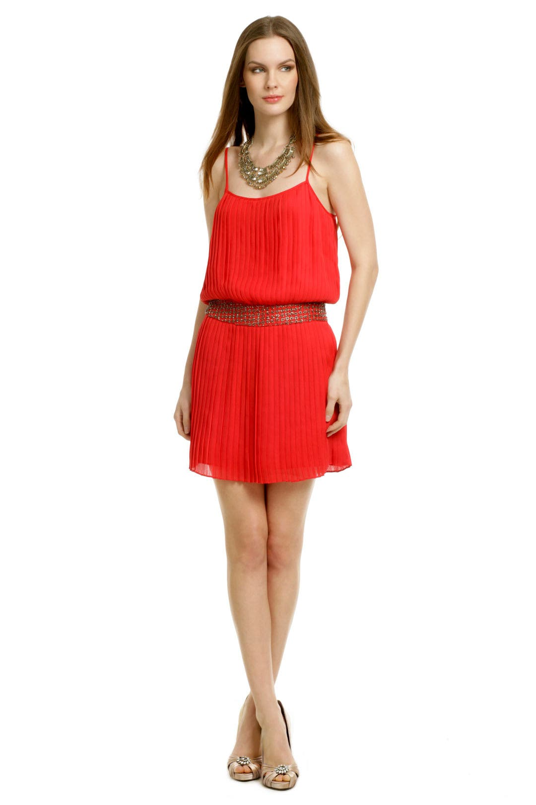 Red Shock Wave Dress by Parker