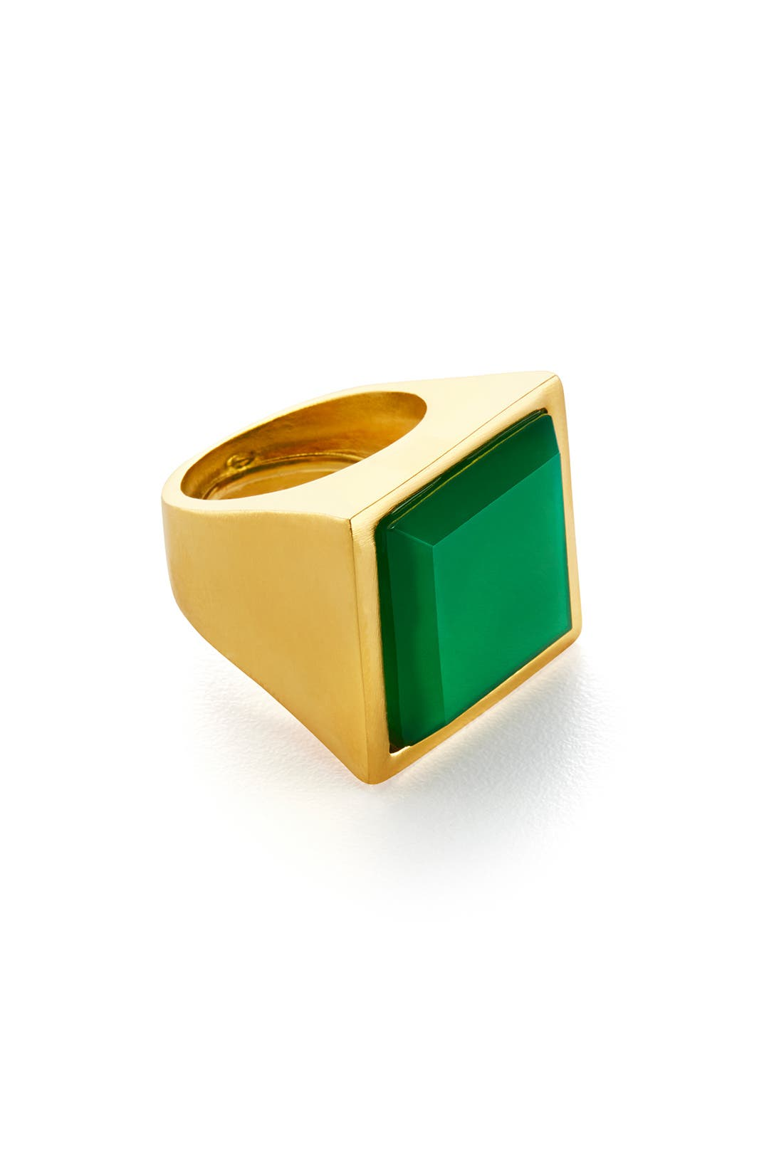 Green Tessera Ring by Kenneth Jay Lane