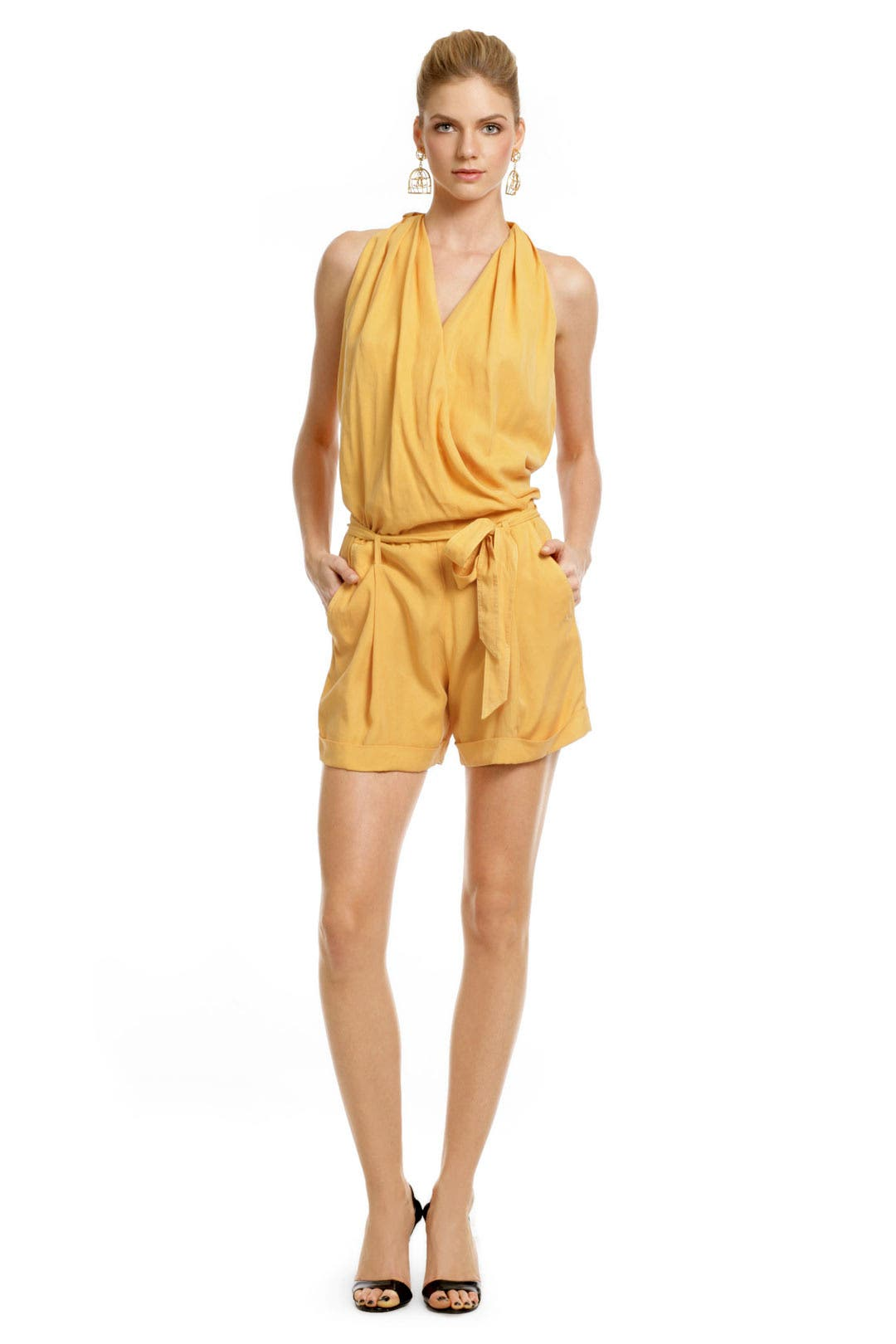 Mango Halter Romper by Robert Rodriguez Collection