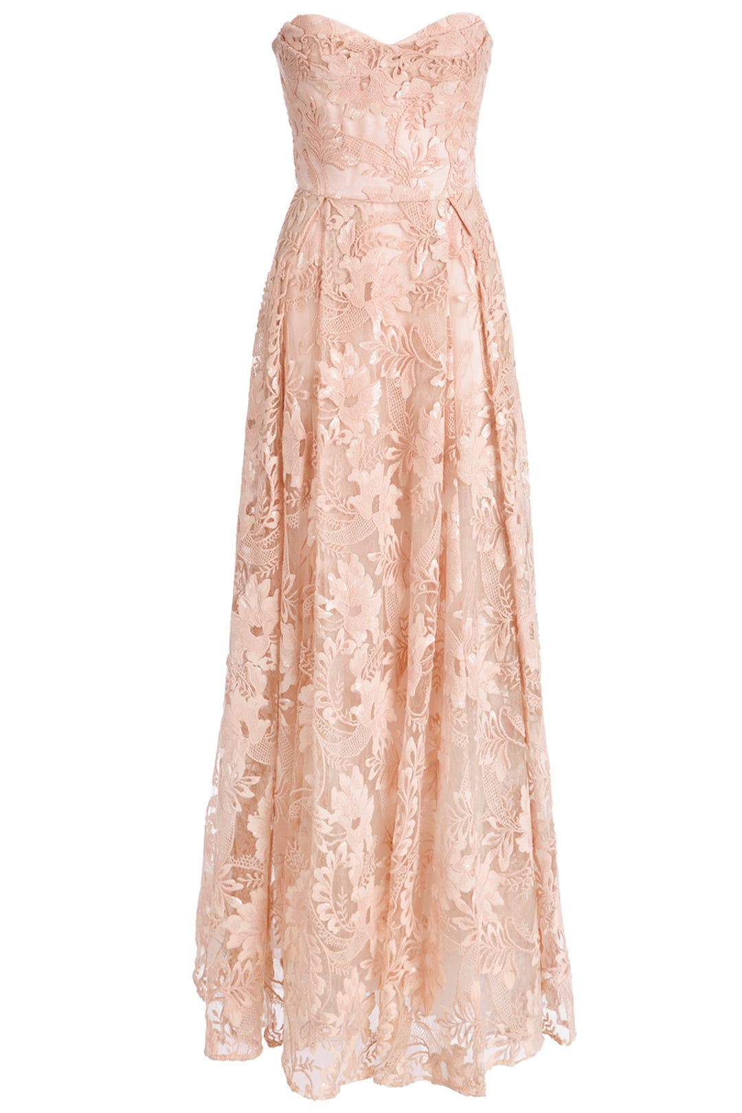 Flora Chiffon Gown by Badgley Mischka for $50 - $70 | Rent the Runway
