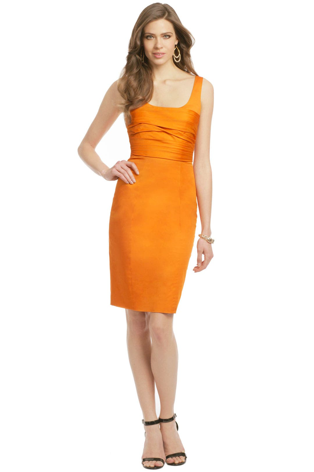 Rust Rose Bodice Sheath by Moschino Cheap And Chic for $45 ...