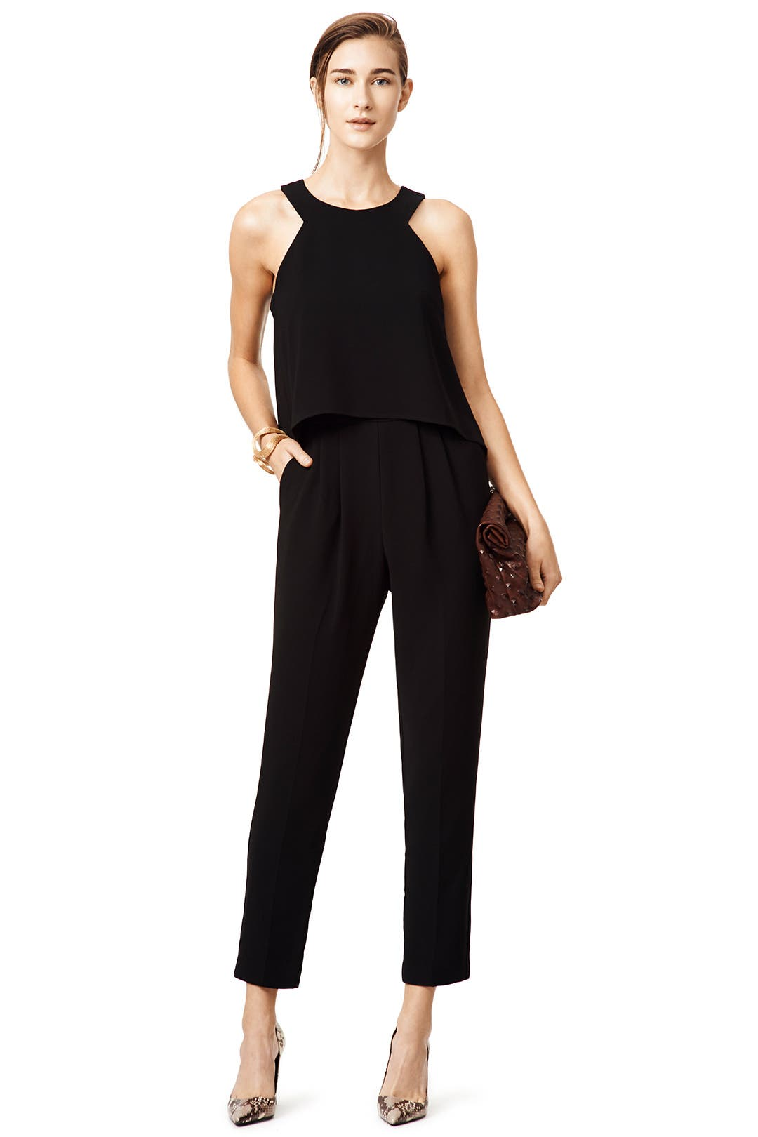 Black Anchors Jumpsuit by Trina Turk for $30 | Rent the Runway