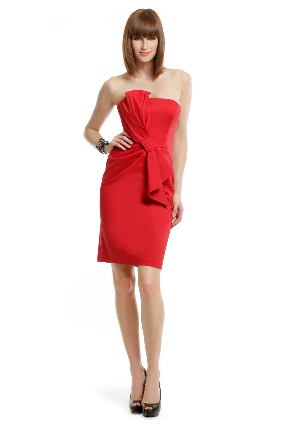 Lady in Red Dress by David Meister for $30 | Rent the Runway