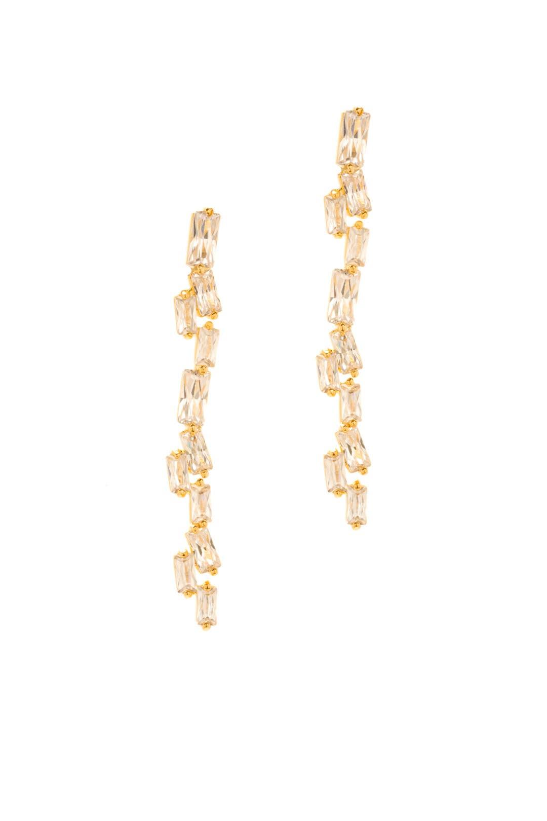 Amara Amara Diamante Gold Drop Pearl Earrings 9umxSYx