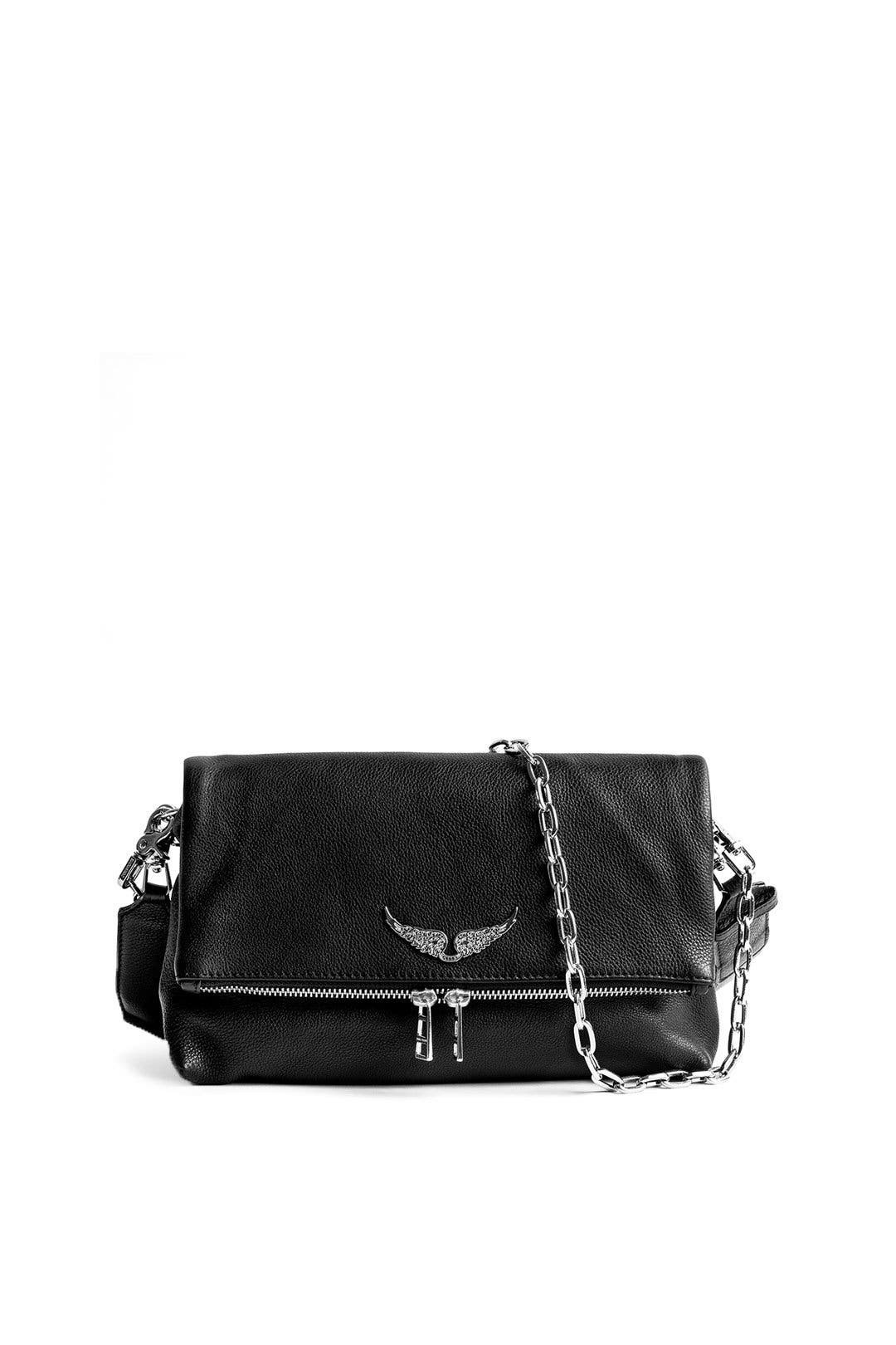 Noir Rocky Grained Bag By Zadig Voltaire Handbags For 65 Rent The Runway