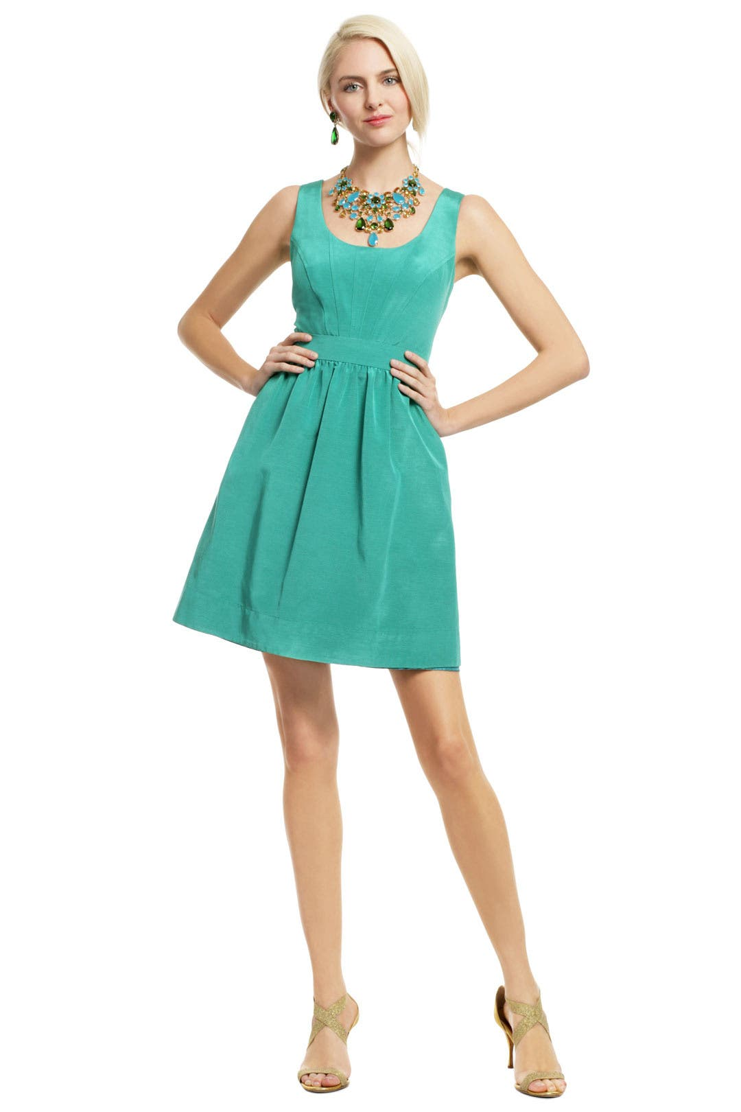 Teal Pearl of Wisdom Dress by Shoshanna