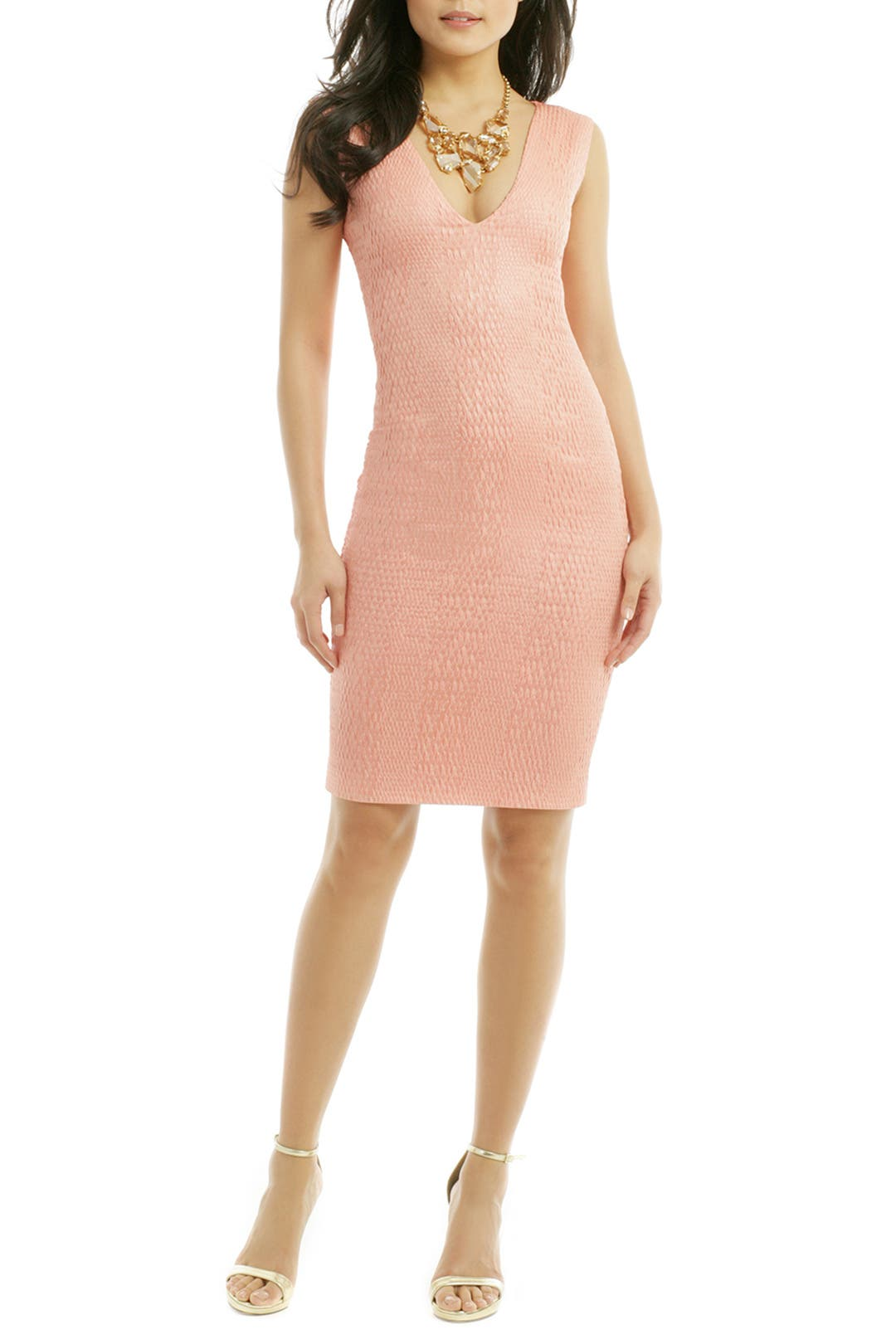 Coral Sun Skies Sheath by Christian Siriano