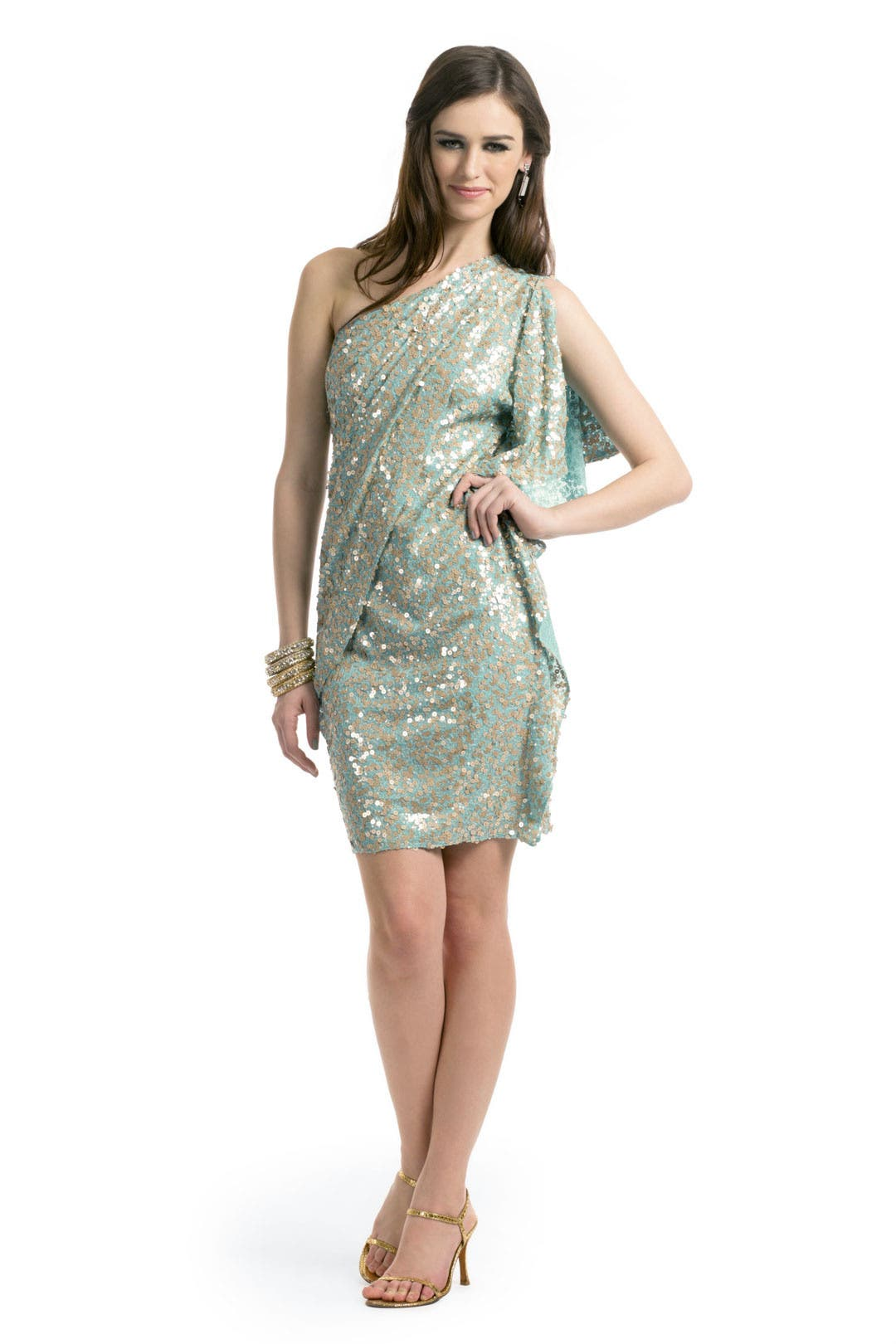 Aqua Wonder Dress by Badgley Mischka