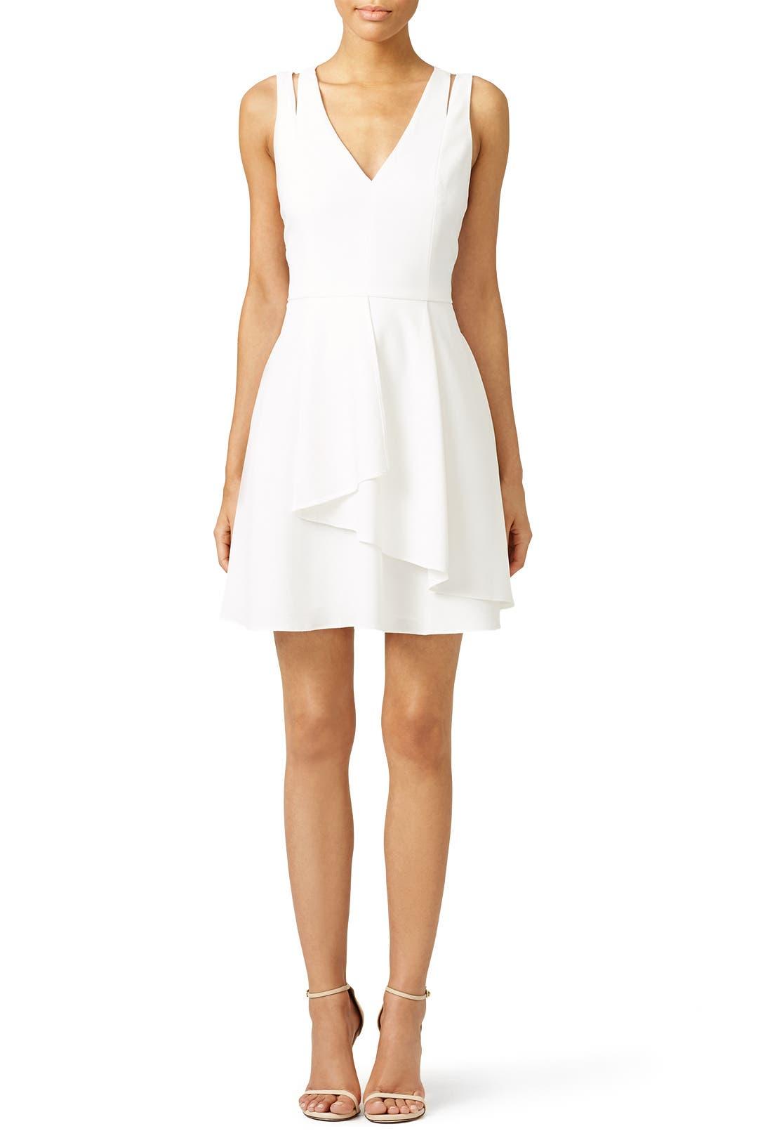 4b6cdbaa5279c White Double Ruffle Dress by Adelyn Rae for  30 -  40