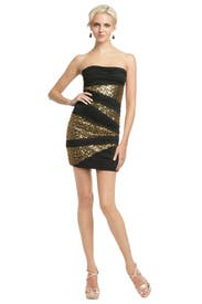 Sequin Inserts Mini Dress by Robert Rodriguez Black Label