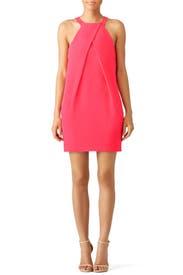 Pink Origami Fold Dress by Trina Turk