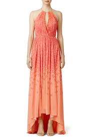 Coral Falling Butterfly Maxi by Badgley Mischka