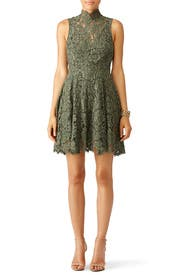 Green Porcelain Lace Dress by Keepsake