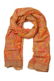 Coral Tuscany Scarf by Theodora and Callum Accessories