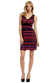 Neon Wave Lightshow Dress by M Missoni