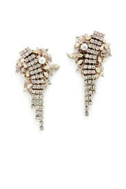Crystal Romantic Earrings by Erickson Beamon