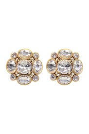 Classic Crystal Earrings by Oscar de la Renta