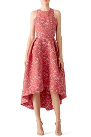 Red Abstract Fl Dress By Ml Monique Lhuillier