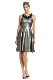 Metallic Mars Dress by Lela Rose