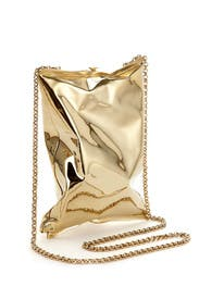 Gold Crisp Packet Clutch by Anya Hindmarch