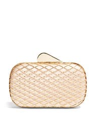 Champagne Cage Clutch by Franchi