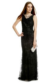 Lady Lace Sequin Gown by Carmen Marc Valvo
