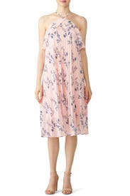 Pink Floral Halter Dress by Shoshanna for $35 - $55 | Rent the Runway