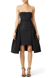 Black Bustier High-Low Dress by Vera Wang