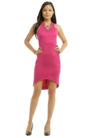 Fuchsia Future Basics Cut Away Dress by Josh Goot