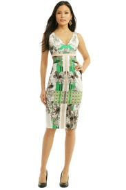 Floral Graphic Inset Sheath by Antonio Berardi