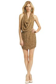 Paint Me Gold Dress by Haute Hippie