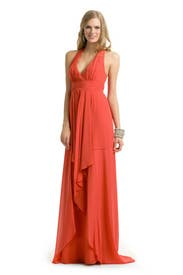 Coral Halter Gown by Nicole Miller