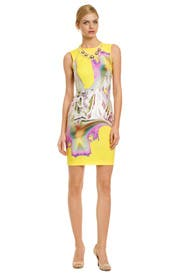 Melting Floral Sheath by Vera Wang