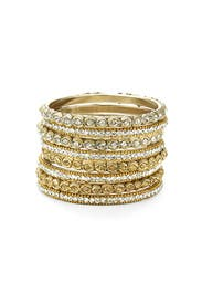 Crystal Snake Eye Bangle Set by Chamak by Priya Kakkar