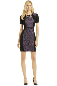 Purple Rain Contrast Dress by Yoana Baraschi
