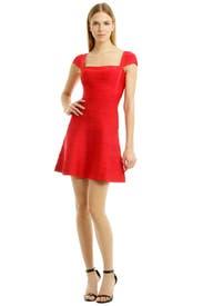 Ruby Ruby Red Dress by Hervé Léger