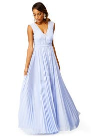 Periwinkle Pleats Gown by Rebecca Taylor
