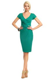 Green Rimini Dress by Alberta Ferretti