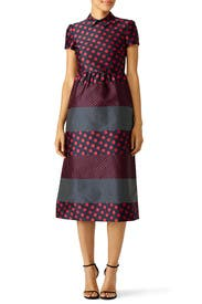 Red Contrast Polka Dot Dress by RED Valentino