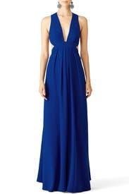 Cobalt Cross Gown by Jill Jill Stuart