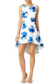 Blue Poppy James Dress by TROUBADOUR